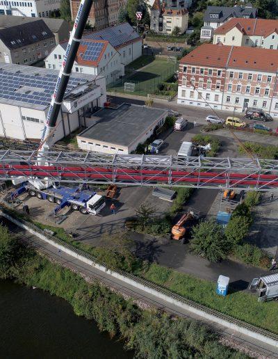 Kranmontage Rohbrücke in Roßwein
