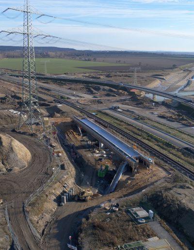 Neubau der A72 bei Rötha