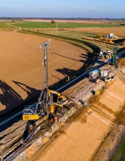 Torgau Dammarbeiten an der Elbe 1